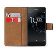 Basic Bookcase Hülle für Sony Xperia XA1 Klapphülle Tasche mit Kartenfächern