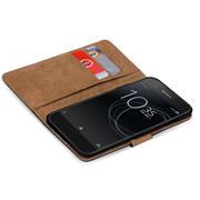Basic Bookcase Hülle für Sony Xperia XA Ultra Klapphülle Tasche mit Kartenfächern