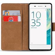 Basic Bookcase Hülle für Sony Xperia XA Klapphülle Tasche mit Kartenfächer