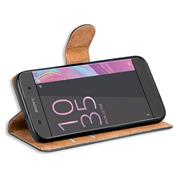 Basic Bookcase Hülle für Sony Xperia XA Case klappbare Schutzhülle