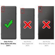 Basic Bookcase Hülle für Sony Xperia XA Ultra Case klappbare Schutzhülle