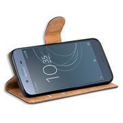 Basic Bookcase Hülle für Sony Xperia XZ1 Compact Case klappbare Schutzhülle
