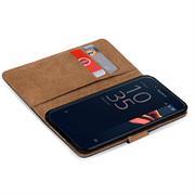 Basic Bookcase Hülle für Sony Xperia XZ1 Compact klappbare Schutzhülle