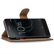 Basic Bookcase Hülle für Sony Xperia XZ1 Compact Klapphülle Tasche mit Kartenfächern