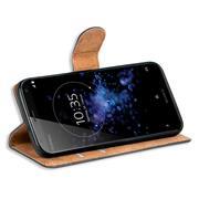 Basic Bookcase Hülle für Sony Xperia XZ2 Compact Klapphülle Tasche mit Kartenfächern