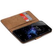 Basic Bookcase Hülle für Sony Xperia XZ2 Klapphülle Tasche mit Kartenfächern