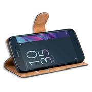 Basic Bookcase Hülle für Sony Xperia XZ Klapphülle Tasche mit Kartenfächer