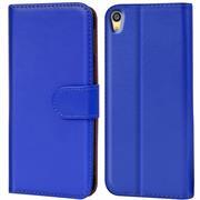Basic Bookcase Hülle für Sony Xperia Z2 Klapphülle Tasche mit Kartenfächer in Blau