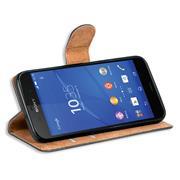 Basic Bookcase Hülle für Sony Xperia Z3 Compact Case klappbare Schutzhülle