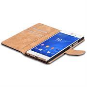 Basic Bookcase Hülle für Sony Xperia Z3 Klapphülle Tasche mit Kartenfächer in Blau