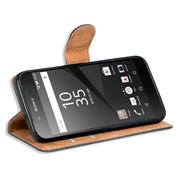 Basic Bookcase Hülle für Sony Xperia Z5 Compact Case klappbare Schutzhülle