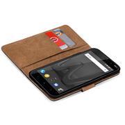 Basic Bookcase Hülle für Wiko Robby klappbare Tasche mit Kartenfächern