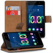 Basic Bookcase Hülle für Wiko Fever Klapphülle Tasche mit Kartenfächer