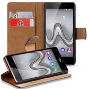 Basic Bookcase Hülle für Wiko Freddy klappbars Cover mit Kartenfächern