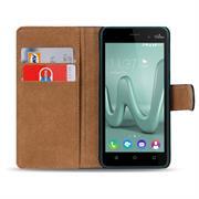 Basic Bookcase Hülle für Wiko Lenny 3 Klapphülle Tasche mit Kartenfächer