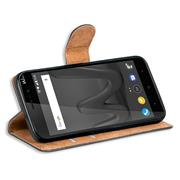 Basic Bookcase Hülle für Wiko Lenny 4 Plus Case klappbare Schutzhülle