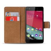 Basic Bookcase Hülle für Wiko Pulp Fab 4G Klapphülle Tasche mit Kartenfächer