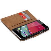 Basic Bookcase Hülle für Wiko Pulp Fab 4G Tasche mit Kartenfächern