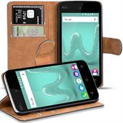 Basic Bookcase Hülle für Wiko Sunny 2 Klapphülle Tasche mit Kartenfächern