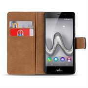 Basic Bookcase Hülle für Wiko Tommy klappbare Tasche mit Kartenfächern
