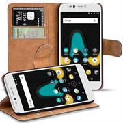 Basic Bookcase Hülle für Wiko UPulse klappbars Cover mit Kartenfächern