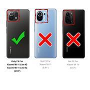 Basic Handyhülle für Xiaomi Mi 11 Lite 4G/5G Hülle Book Case klappbare Schutzhülle