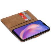 Basic Bookcase Hülle für Xiaomi Mi 8 Lite Schutzhülle mit Kartenfächern