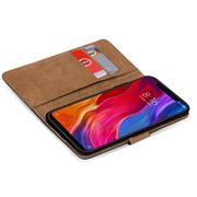 Basic Bookcase Hülle für Xiaomi Mi 8 Pro Schutzhülle mit Kartenfächern