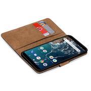 Basic Bookcase Hülle für Xiaomi Mi A2 Lite Case klappbare Schutzhülle