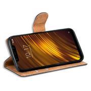 Basic Bookcase Hülle für Xiaomi Pocophone F1 Schutzhülle mit Kartenfächern