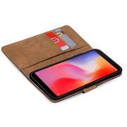 Basic Bookcase Hülle für Xiaomi Redmi 6 Schutzhülle mit Kartenfächern