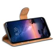 Basic Bookcase Hülle für Xiaomi Redmi Note 6 Pro Case klappbare Schutzhülle