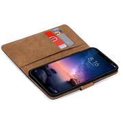 Basic Bookcase Hülle für Xiaomi Redmi Note 6 Pro Schutzhülle mit Kartenfächern