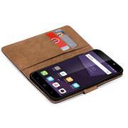 Basic Bookcase Hülle für ZTE Blade A610 Plus Klapphülle Tasche mit Kartenfächern