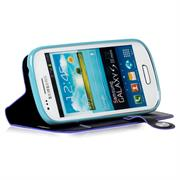 Book Case für Samsung Galaxy S3 Mini Hülle Innenschale aus Silikon Tasche