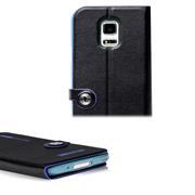 Book Case für Samsung Galaxy S5 Mini Hülle Innenschale aus Silikon Tasche