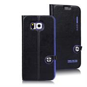 Book Case für Samsung Galaxy S6 Hülle Innenschale aus Silikon Tasche