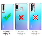 Slim Wallet Case für Huawei P30 aufstellbare Magnet Hülle