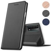 Magnet Case für Huawei P Smart 2021 Hülle Schutzhülle Handy Cover Slim Klapphülle