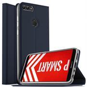 Slim Wallet Case für Huawei P Smart Magnet Hülle mit Standfunktion