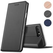 Magnet Case für Huawei Y6 2018 Hülle Schutzhülle Handy Cover Slim Klapphülle