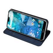 Slim Wallet Case für Nokia 7.1 aufstellbare Magnet Hülle