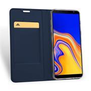 Slim Flip Cover für Samsung Galaxy J6 Plus Hülle Tasche Magnet in der Klapphülle