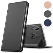Magnet Case für Samsung Galaxy M20 Hülle Schutzhülle Handy Cover Slim Klapphülle