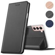 Magnet Case für Samsung Galaxy S21 FE Hülle Schutzhülle Handy Cover Slim Klapphülle