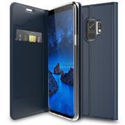 Slim Flip Cover für Samsung Galaxy S9 Hülle Tasche Magnet in der Klapphülle