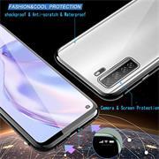 Metall Case für Huawei P40 Lite 5G Hülle | Cover mit eingebautem Magnet Rückseite und Vorderseite aus Glas