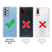 Metall Case für Samsung Galaxy A32 5G Hülle | Cover mit eingebautem Magnet Rückseite und Vorderseite aus Glas