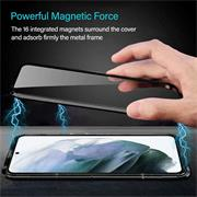 Metall Case für Samsung Galaxy S21 Plus Hülle   Cover mit eingebautem Magnet Rückseite und Vorderseite aus Glas