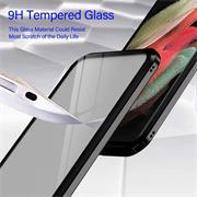 Metall Case für Samsung Galaxy S21 Ultra Hülle   Cover mit eingebautem Magnet Rückseite und Vorderseite aus Glas